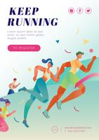 Poster di maratona in esecuzione