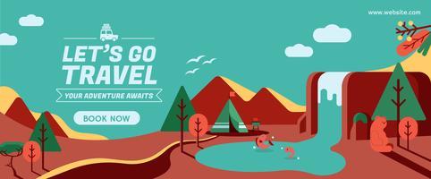 Lets go travel banner