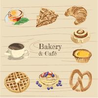 bageri och café illustration pack
