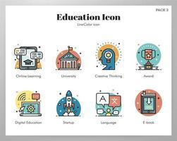 Onderwijs pictogrammen pack