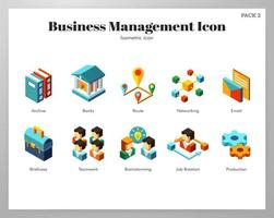 Business management icons Isometric pack
