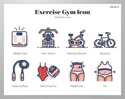 Icônes d'exercices de gym LineColor Pack