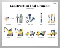 Construction tool elements set
