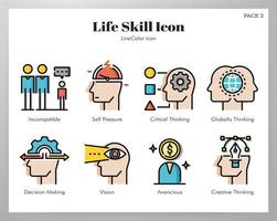 Life skill icons LineColor pack