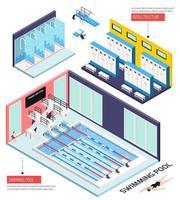 Schwimmbad isometrische Zusammensetzung