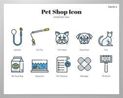 Icono de la tienda de mascotas LineColor pack