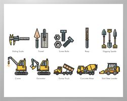 Construction tool elements pack