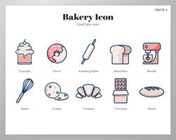 Bakery icon pack vector