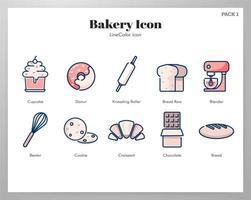 Pacote de ícones de padaria