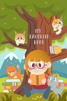 Läsning med en katt