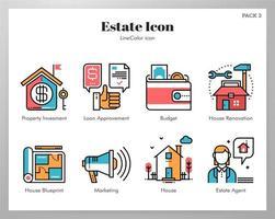 Iconos de bienes LineColor