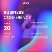 Business Conference Instagram Post Template vector