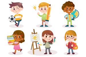 back to school students vector