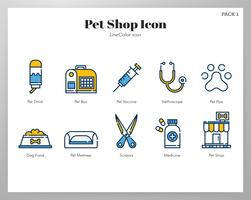 Pet shop icon pack vector