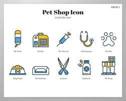 Pack de iconos de tienda de mascotas