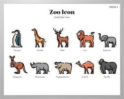 Icônes Zoo Pack LineColor