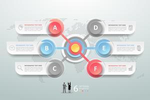 Obiettivo astratto business infografica
