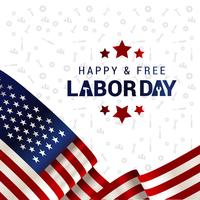 Vackra USA-flaggan Composition Labor Day Poster