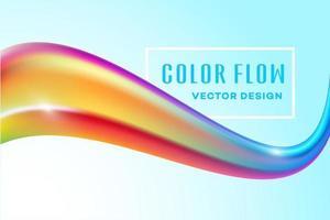 Modern färgglad flödesaffisch. Våg för flytande formfärgmaskbakgrund