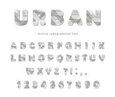 Carattere urbano moderno. Lettere e numeri stilizzati