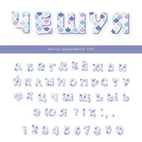 Cyrillic mermaid scale trendy font. Cute alphabet for mermaid birthday cards, posters