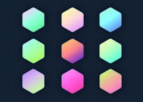 Pastell-Farbverläufe-Auflistung