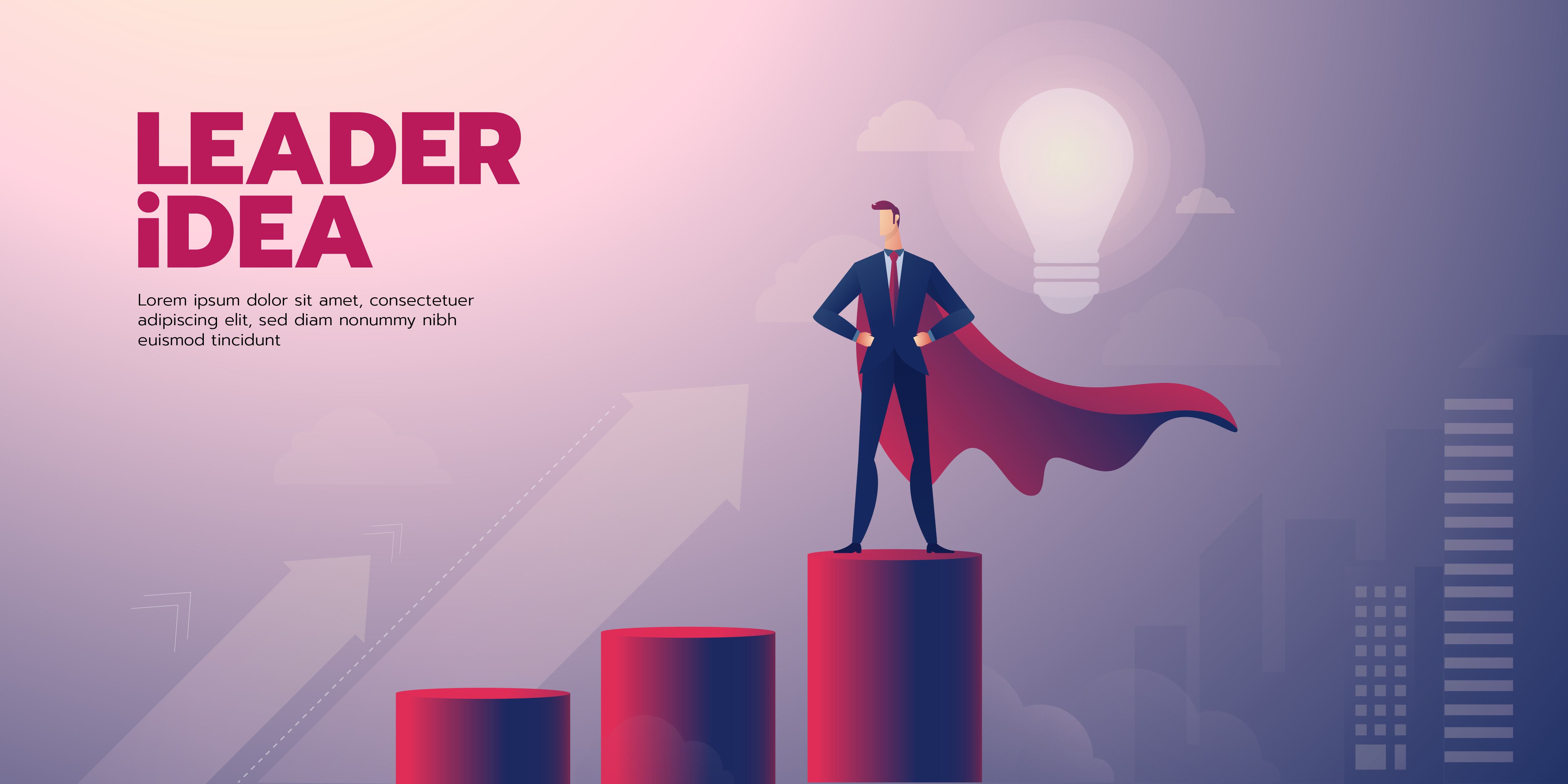 Businessman Leadership Banner With Text Download Free Vectors Clipart Graphics Vector Art