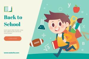Diseño de regreso a la escuela con estudiantes que van a la escuela