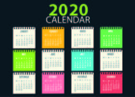 Colorful Calendar Template School Childish
