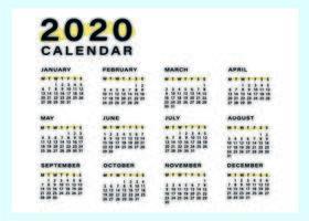 Minimale und einfache Kalendervorlage