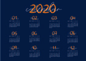 Blue and Creative Calendar Template  vector