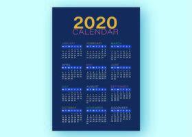 Blaue Kalender-Geschäfts-Schablone