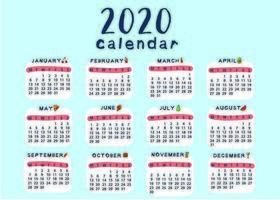 Kreative und niedliche Kalendervorlagenschule