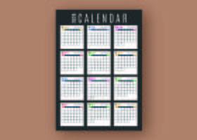 Modelo de calendário de negócios