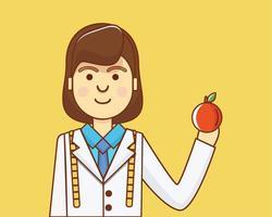 Caractère nutritionniste à la pomme