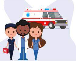 Ambulance with Characters