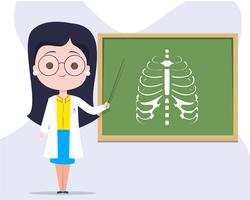Insegnante che insegna medicina