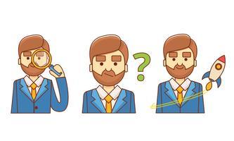 Conjunto de ícones de caracteres
