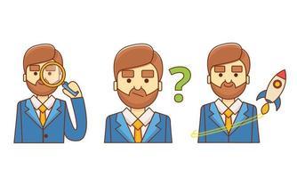 Set di icone di caratteri