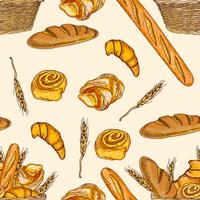 Patrón sin costuras de panadería