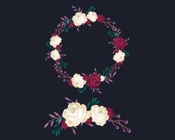 Set of Purple Wreath