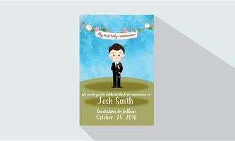 My first Holy Communion Card vector