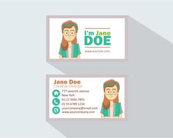 Business Card Female Character vector