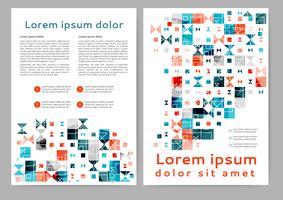 Brochura geométrica abstrata