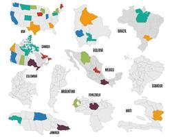 Satz von Landkarte