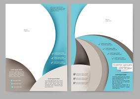 Brochure bleue abstraite