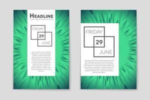 Abstract Flyer decorontwerp