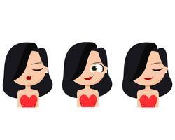 Latin Girl Faces  vector