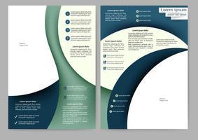 Abstrakt grön och blå broschyr