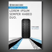 Conception d'affiche de pneu
